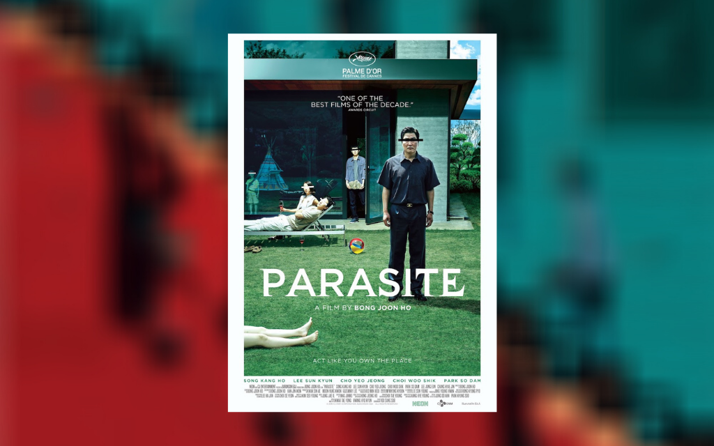 The movie poster for Parasite