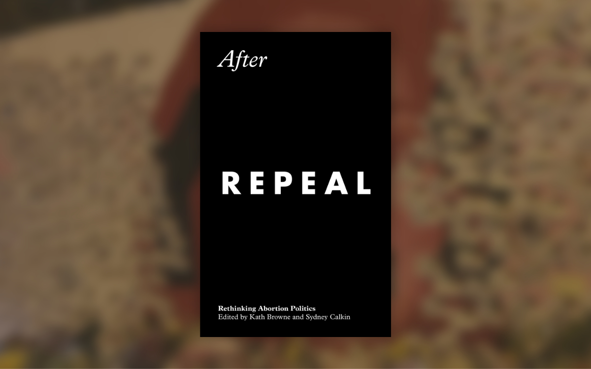 after repeal book cover. Black and white plain font