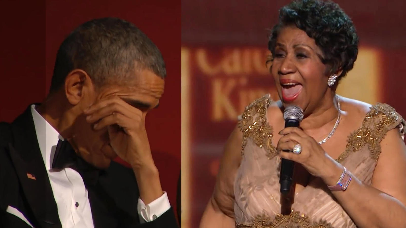 Aretha Franklin and Barack Obama Image: The Daily Dot