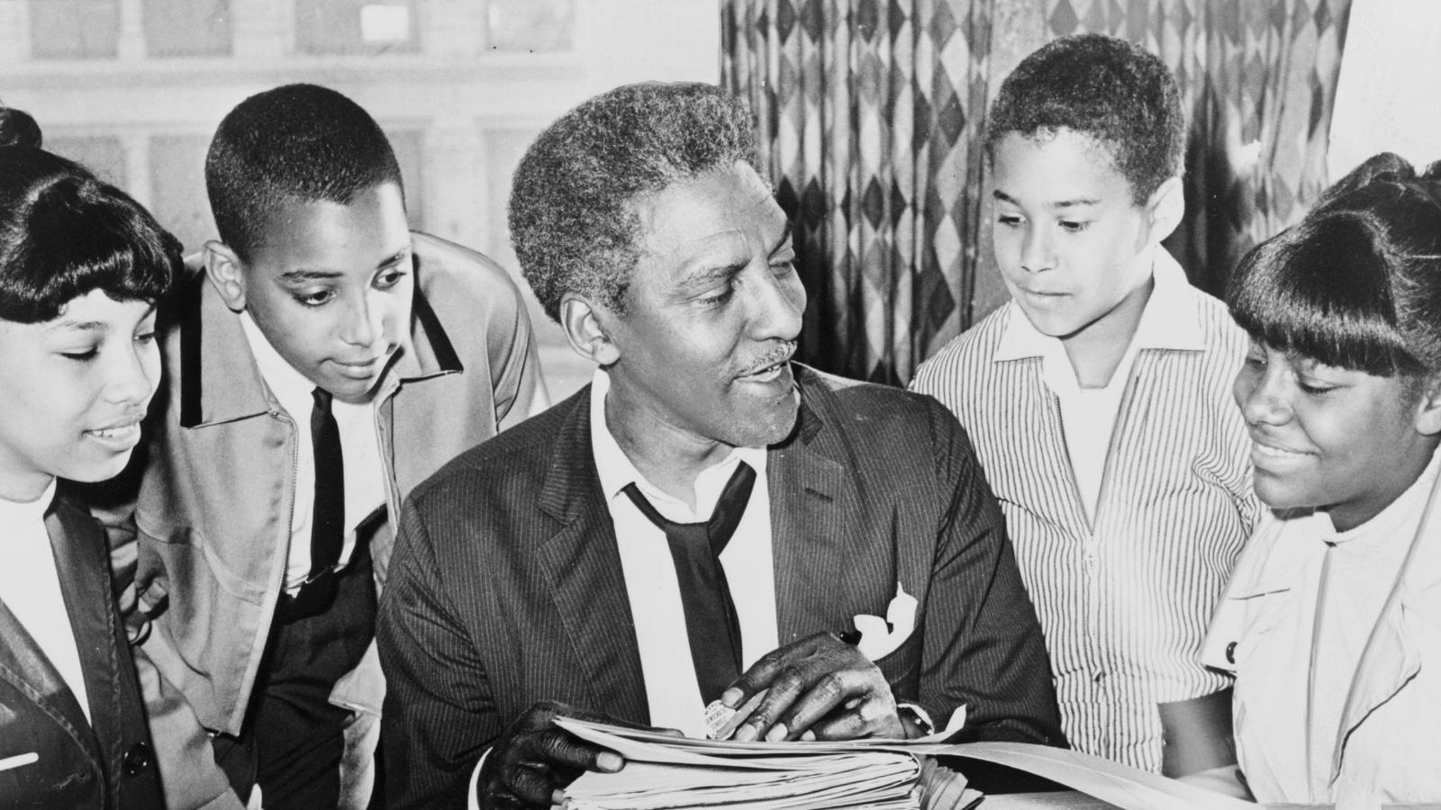 Bayard Rustin with young people