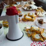 Biscuits, cuppas, megaphones and action