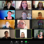 Zoom screen shot with lots of faces smiling and ready to take action.