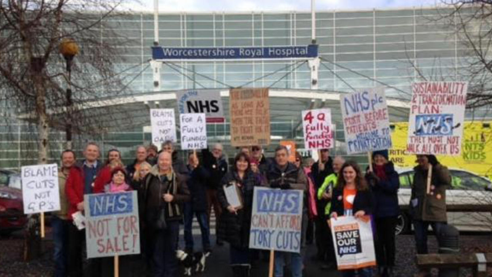 Johns organising team outside Worcestershire Hospital, Image: Georgie Lamming