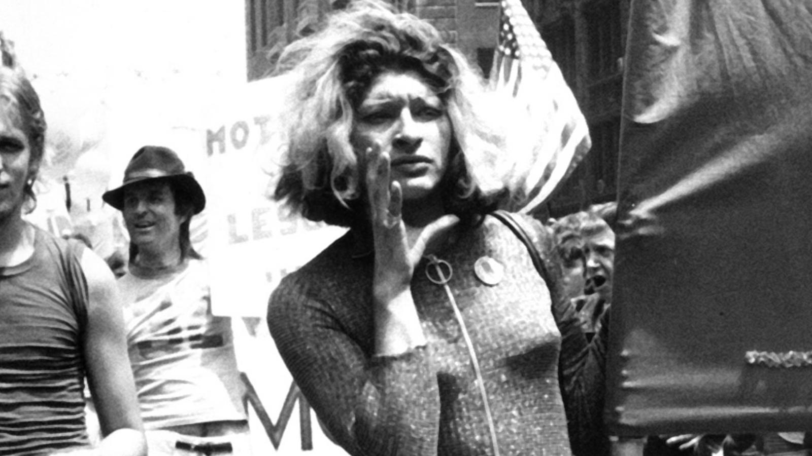 Sylvia Rivera arms wide open Image: Odyssey