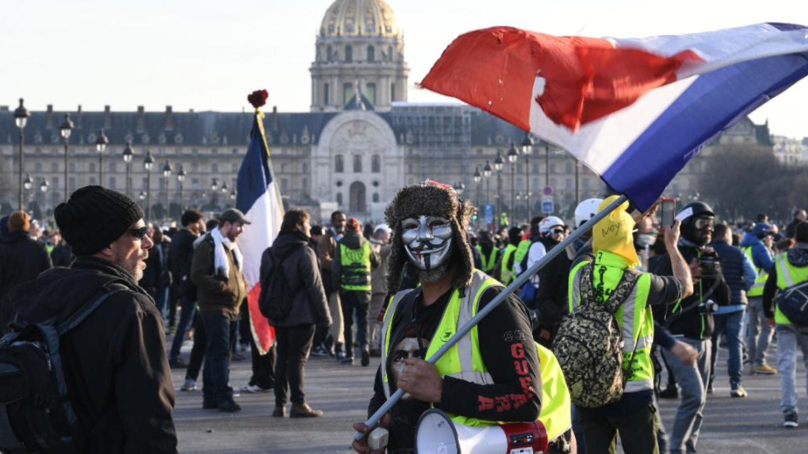 Yellow Vests, Paris, Image: CNN