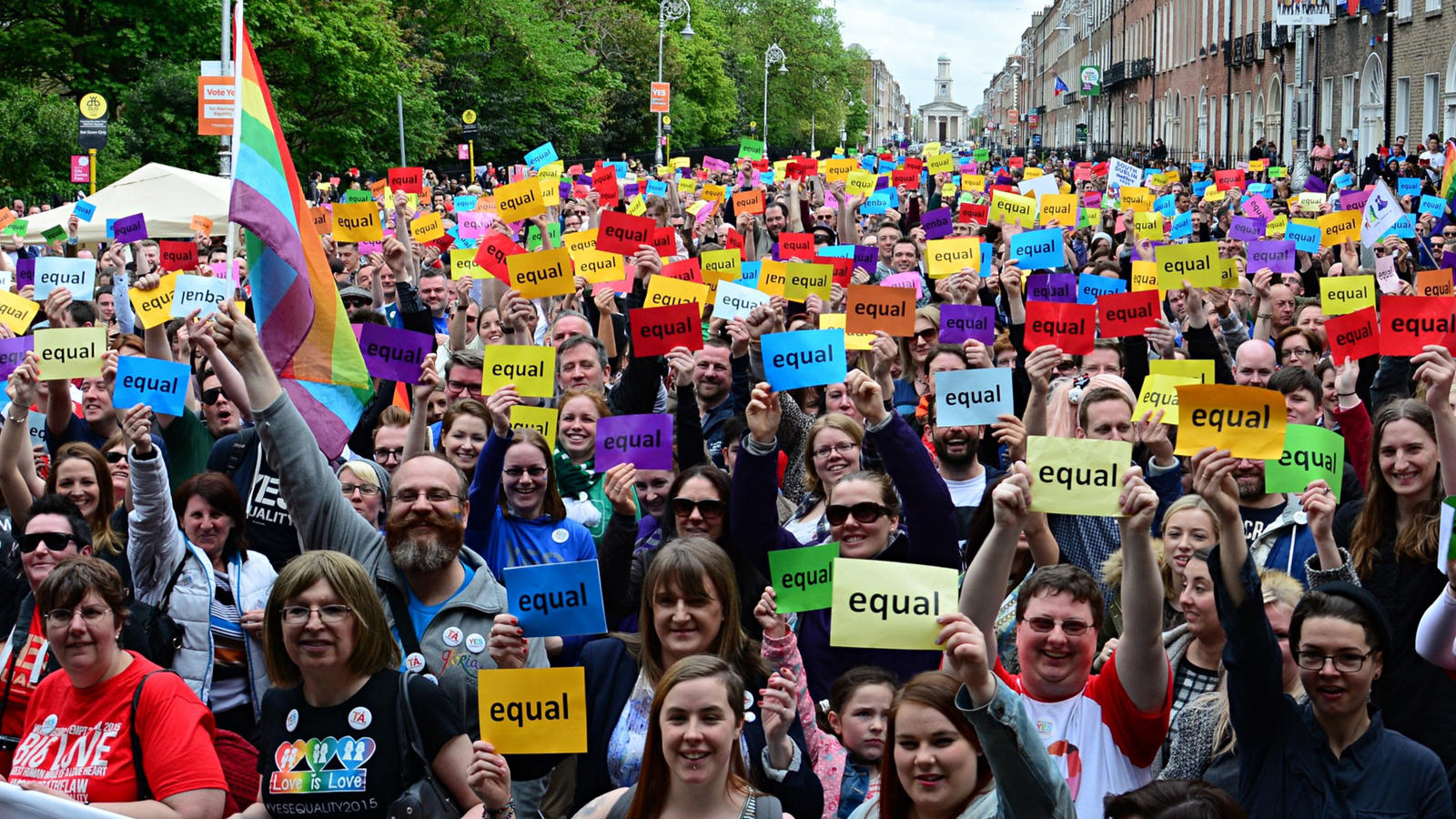 Yes rally in Dublin. Image, Guardian.UK