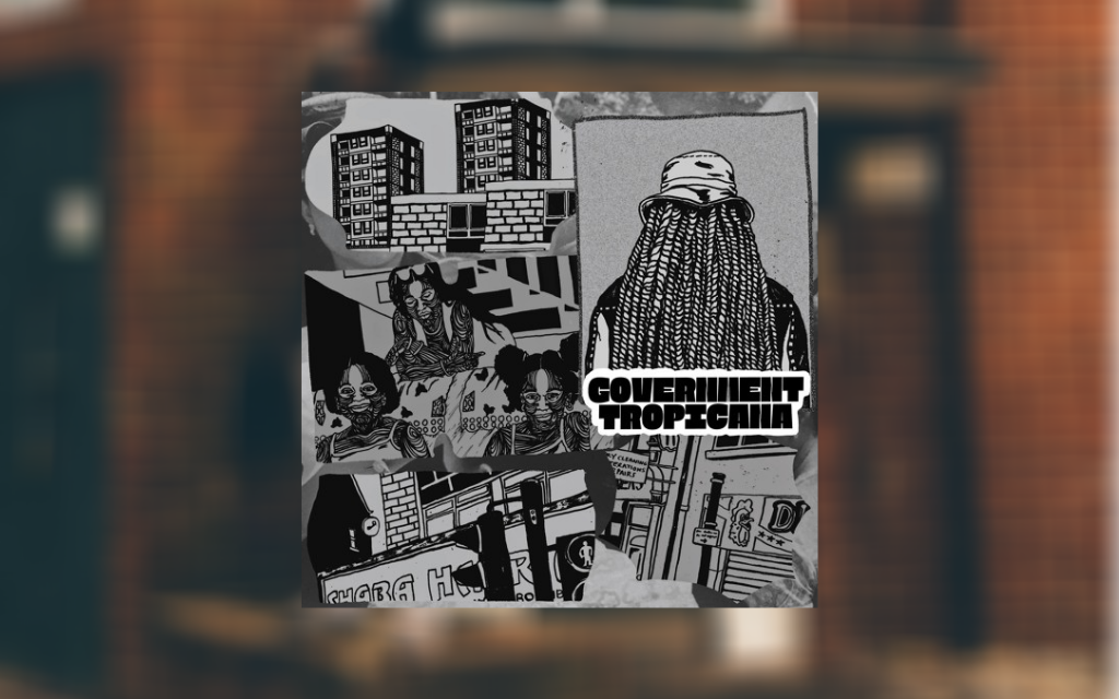The artwork for Government Tropicana on top of a blurred image of Lex Amour